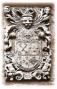 Escudo de Miranda-Quirós en el Palacio de Llanuces.