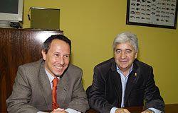 Pablo Sanzo y Nicanor Alonso Presidente y Vicepresidente de la Entidad de Conservación del Parque Empresarial de Argame