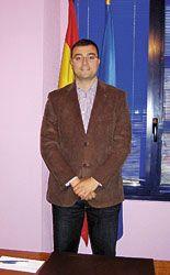 Adrián Barbón. Alcalde de Laviana