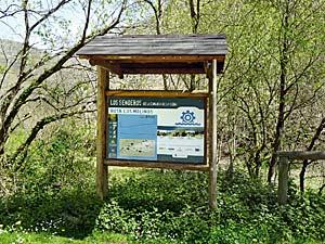 Cartel explicativo de la Ruta Los Molinos. Foto: Fusión Asturias