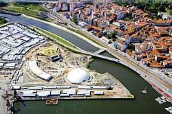 Diferentes vistas de las obras del Centro Cultural Internacional Óscar Niemeyer