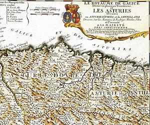 Mapa antiguo de Asturias