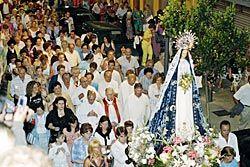 Procesión en las Fiestas de Nuestra Señora la Virgen del Otero