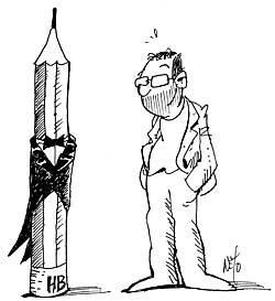 Caricatura de Ernesto García