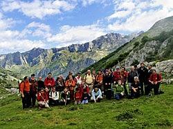 Grupo de Montaña C.D. Marqués de Casariego en el Mayao Toneyu, en la Senda del Arcediano. Foto: cedida por C.D. Marqués de Casariego