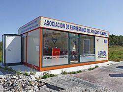 Oficina de ASPOBA, en el Polígono Industrial de Barres