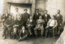 Equipo directivo de Hulleras de Riosa, 1916