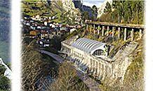 De izda a dcha: Oveya Xalda, futuro Museo de los Quesos de Asturias y Pote de Nabos