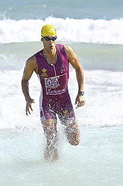 Rubén Ruiz en el Campeonato de España de triatlón en Almería