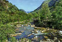 Río Sella en Santillán