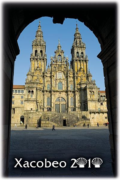 Catedral de Santiago de Compostela, desde la Plaza del Obradoiro