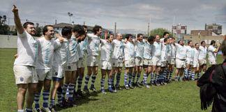 El equipo celebrando el ascenso a la División de Honor B (2008)