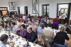 Comida vecinal. Fabada, 2009