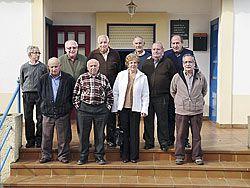 Miembros de la Junta Directiva de la Asociación de Jubilados de San Martín de Luiña