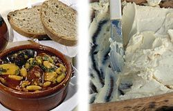 Potaje de castañas y Queso de Fuente (Proaza)