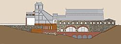 Una vez terminadas las obras, el edificio del casino se habrá convertido en un Centro de Interpretación y de Recepción de Visitantes.