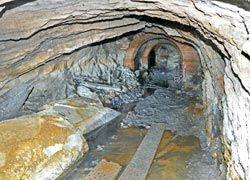 Interior de la mina actualmente