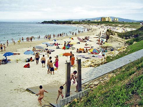 Playa de Llas (Lugo), una de las más yodadas de España