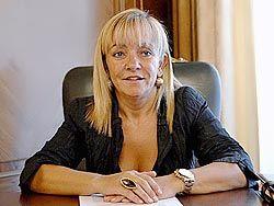 Isabel Carrasco, presidenta de la Diputación de León.