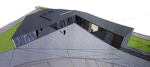 Gráfico de la propuesta del Museo del Ciclismo. Situación: Porció, Riosa