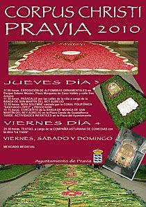 Cartel de las Fiestas del Corpus Christi en Pravia