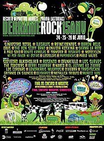 Cartel del Festival Derrame Rock 15 Aniversario