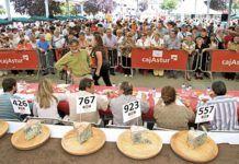 Certamen del Queso de Cabrales que se celebra en agosto en la localidad de Arenas.
