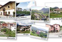 Algunos de los pueblos de Cabrales: Carreña, Arenas de Cabrales, Asiegu, Pandébano, Arangas, Inguanzo, Poo de Cabrales y Sotres.
