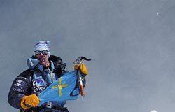 Nacho Orviz en la cumbre del Annapurna.