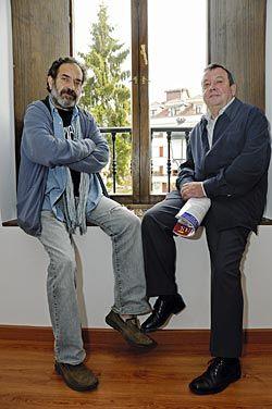 Chus Pedro y Pablo Manzano, de la Fundación Nuberu