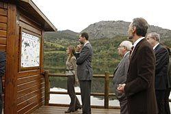 Los Príncipes de Asturias en la inauguración del Observatorio de La Polina (Sobrescobio). Foto: Juan Plaza. Cedida por Ayto. de Sobrescobio