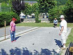 Pista de petanca en el Pabellón Municipal de Deportes