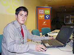 Luis Iván Cuende, creador del software libre Asturix