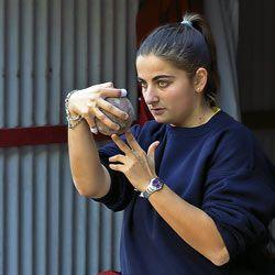 Verónica Iglesias, jugadora de bolos