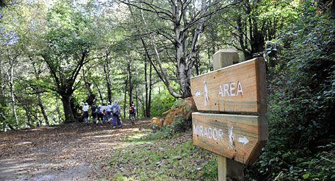 Ruta Mina La Esperanza que discurre por Morcín y Riosa