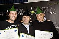 Premiados en el III Campeonato de Asturias de Pinchos y Tapas.