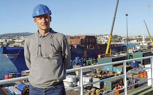 Luis Cotarelo, director Financiero y de Gestión de Astilleros Gondán en Castropol.