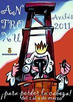 Cartel anunciador del Antroxu Avilés 2011