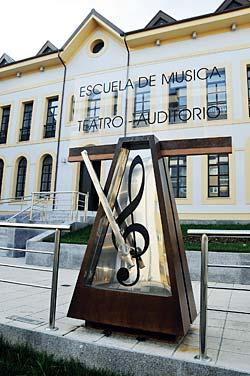 Instalaciones de la Escuela de Música de Grado, inaugurada el pasado mes de septiembre.