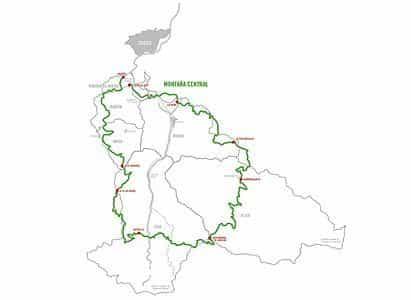 Mapa del trazado del Anillo Ciclista.