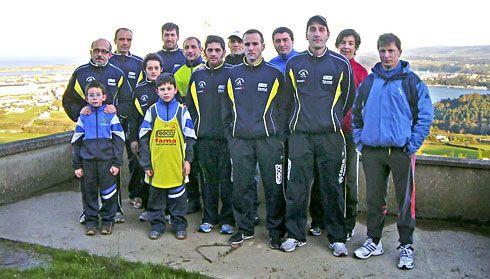 Miembros del Club Atletismo Ribadeo