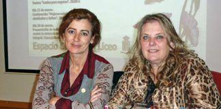 La escritora Angeles Caso y Celestina Mastache, Concejala de Mujer y Cultura.