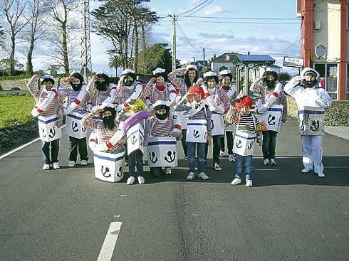 Carnaval organizado por la Asociación de Vecinos de Ortiguera.