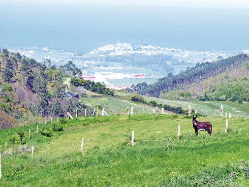 Vista del concejo de Coaña desde Abredo.