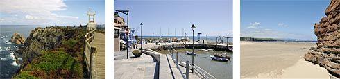 Mirador de Cabo Peñas, Puerto de Luanco y Playa de Xagó