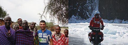 Juan Menéndez Granados en Tanzania y  Juan Menéndez Granados en la expedición al Lago Baikal.