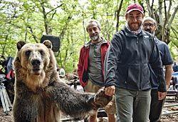 """Rodaje de la película """"¿Para qué sirve un oso?""""."""