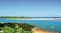 Piélagos, onde'l ríu Pas besa la mar