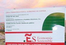 """Un ejemplo de las """"grandes obras"""" municipales en Soria. Asignación del Plan E, 973 € para instalar tres farolas con calma, ¡en tres meses!"""