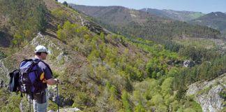 Vista desde las alturas de las hoces del río Esva